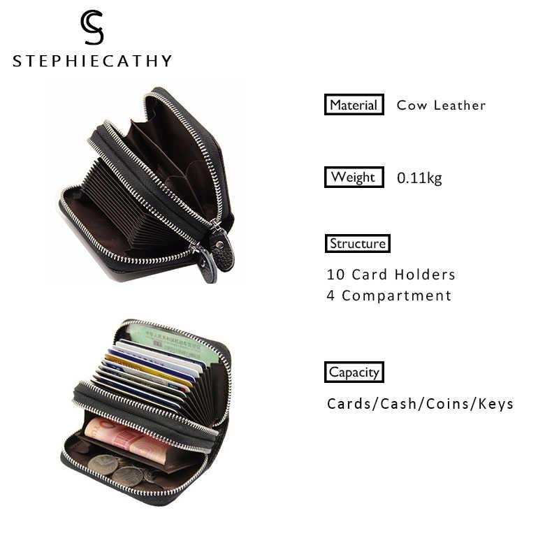 SC Женский кошелек из натуральной кожи RFID, Женский функциональный кошелек с защитой от сканирования, кожаные держатели для карт, кошелек для монета денег