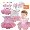 2016 Summer New Cotton Baby Infant Dresses Newborn Baby Girl Dress Lace Baby Clothes Princess Baby Dress