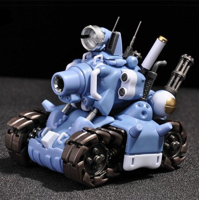 YH Metal Slug Super Voertuig SV 001 tank model beweegbare innerlijke structuur Blauw of Grijs