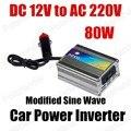 Conversor de Potência do carro Inversor Carregador USB 80 W DC 12 V para AC 220 V Transformador de Tensão Portátil modificado sine onda