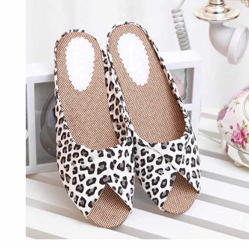 SAGACE Ladies Shoes Sexy Outside Flip Flops Retro Women's Fashion Casual Fish Mouth Low Heels Leopard Square Heel Shoes Sandals