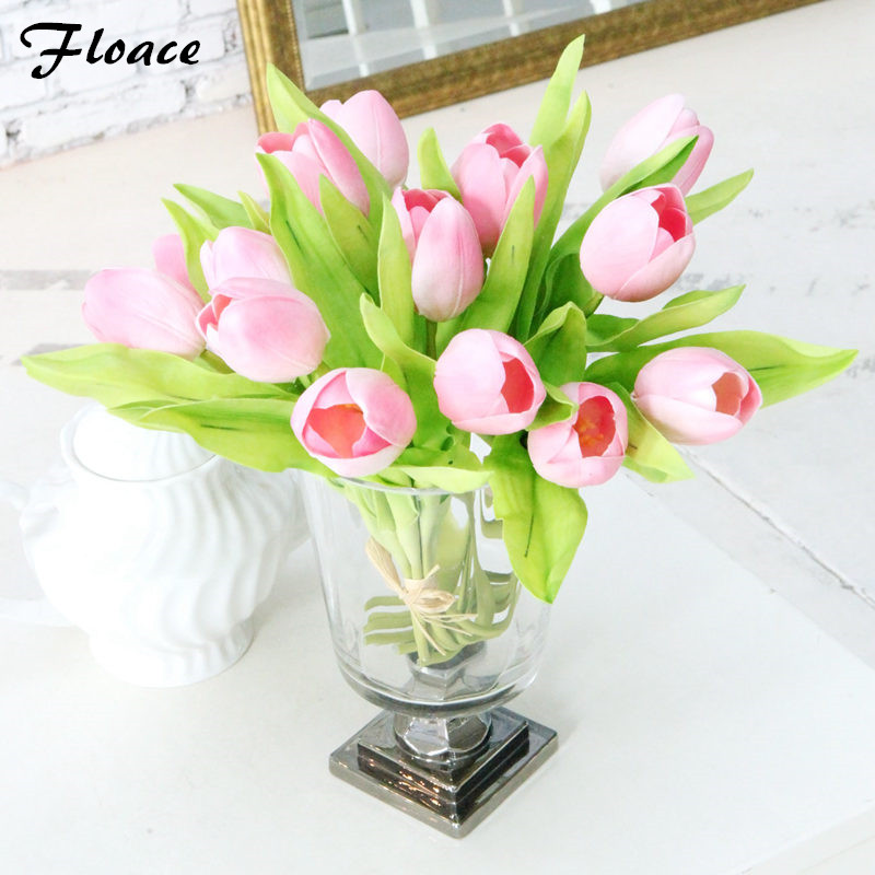 Floace 7pcs 진짜 접촉 소형 튤립 flowerwedding 꽃 인공 꽃 - 휴일 파티 용품