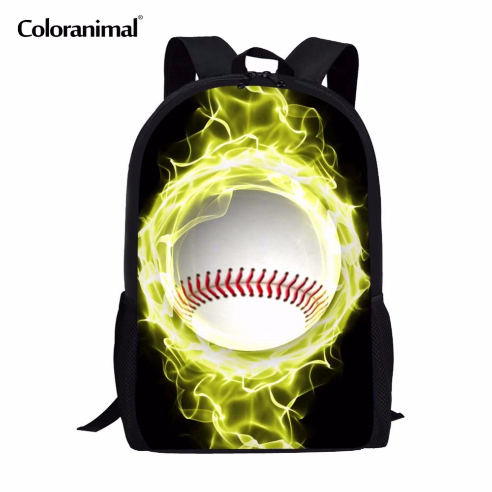 Lights & Lighting Coloranimal Baseballly Teen Girl Boy Mochila Infantil Primary Student Schoolbag 3d Ball Print Men Laptop Backpack Kids Satchel