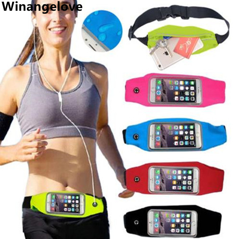 Winangelove 50pcs Universal Gym Running Armband Workout Waterproof Waist Pouch Bag Case For Iphone 5 6 6s Plus 7 7plus Smoothing Circulation And Stopping Pains Mobile Phone Accessories Armbands