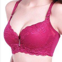 962834120 Moda rendas copo fino push up bra tamanho grande C D copo sexy roupa  interior das mulheres sutiã reunir lingerie bralette modis