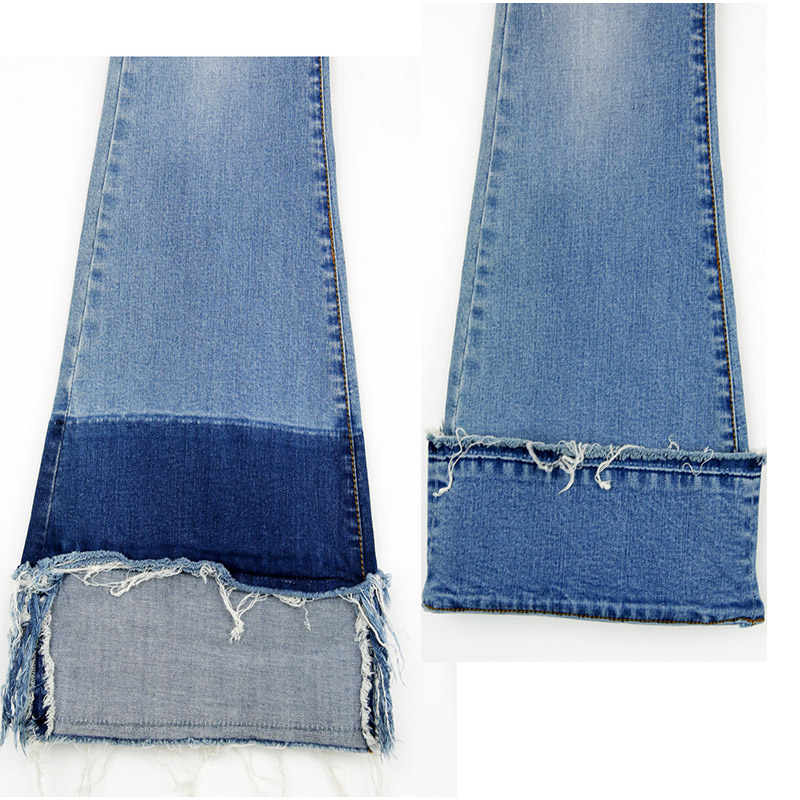 c4b553e72e Patchworked Flare Jeans Slim Stretch pantalones largos con pierna ancha  azul Denim Jeans bota corta Vaqueros en Pantalones vaqueros de La ropa de  las ...