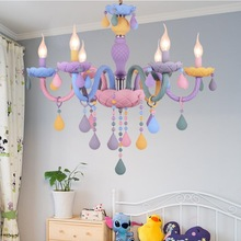 Restaurant-Lamp Candle-Chandelier Princess Home-Decoration Lamps. Macaron Sweet-Color