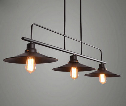 Aliexpress buy black loft retro industrial style european black loft retro industrial style european style chandeliers lamp village restaurant bar personality three heads lights mozeypictures Images