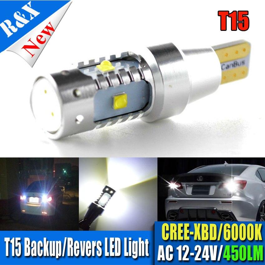 Подробнее о 1x30W T15 W16W 921 915 LED Light Bulbs CANBUS Error Free XBD Chip LED High Power Backup Reverse Turn Signal Light AC12-24V 2pcs t15 w16w 15smd high power chips led 2835 error free canbus bulbs backup reverse turn signal light