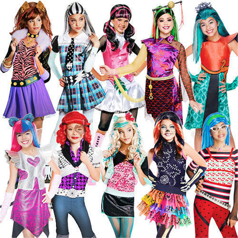girls monster school high skelita calaveras halloween costume cosplay dress mask and wig in girls costumes from novelty special use on aliexpresscom - Skelita Calaveras Halloween Costume