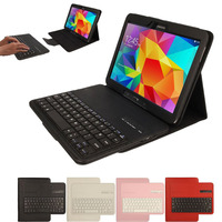 Removable Wireless Bluetooth Keyboard For Samsung Galaxy Tab 4 10 1 T530 T531 T535 Protective Folio
