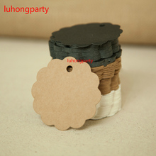 100pcs 6cm*6cm wholesale homemade Kraft paper tags bookmark mood message card DIY scrapbook accessories