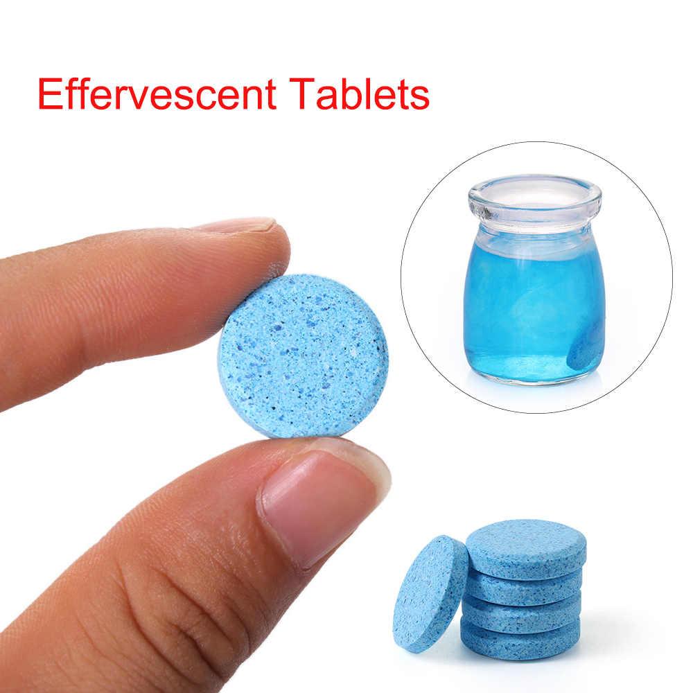 1/5/10 sztuk wielofunkcyjny środek czyszczący w środek czyszczący w sprayu skoncentrować się w domu do czyszczenia samochodu przednia szyba podkładka tabletki musujące