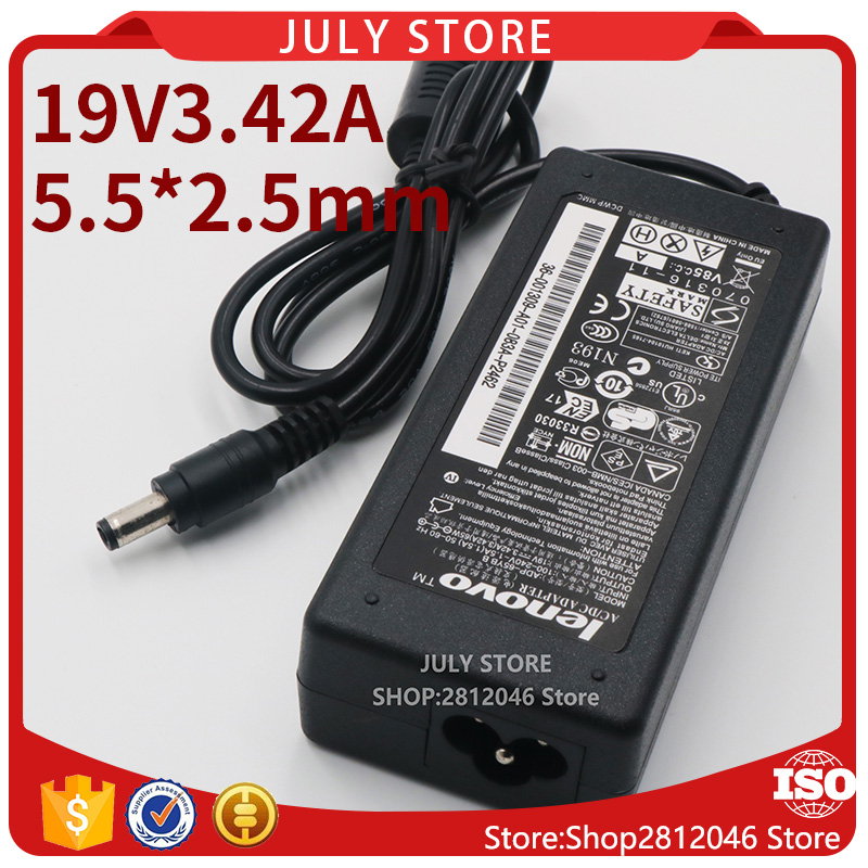 19V3.42A 5.5*2.5 Laptop Power AC Adapter Supply charger For Lenovo S9 S10 S10-2 3000 G230 G430 G450 G455 G460 G530 G555 G560 цена