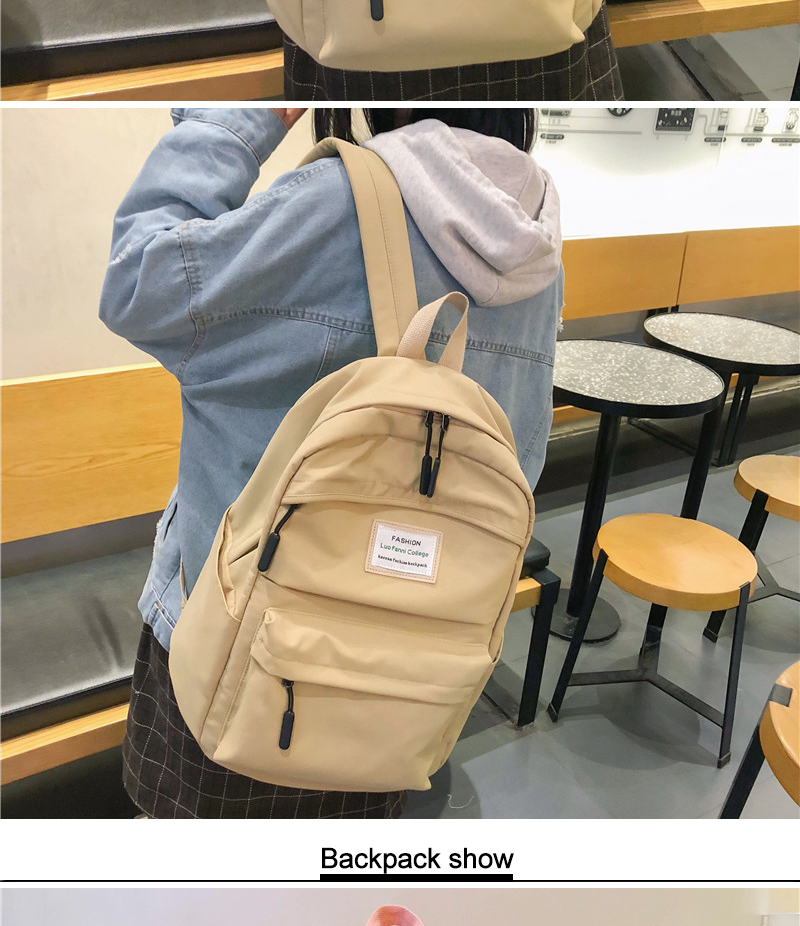 DCIMOR Waterproof Nylon Women Backpack Female Large capacity high schoolbag Korean Vintage girl Shoulder Bags Travel Bag Mochila