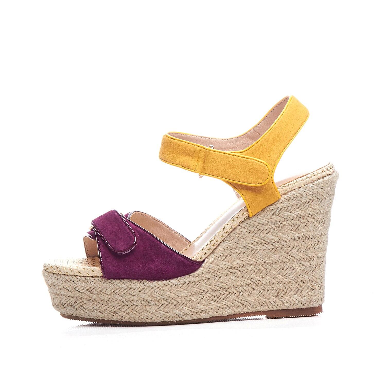 Chaussures Des 2019 À Pourpre 39 Sandales Tailles Mode Femmes Paille qSpMLUzVG