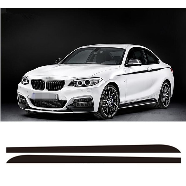 Colors M Sport M Performance Car Racing Stripe Sticker For BMW - Bmw racing stripes decals