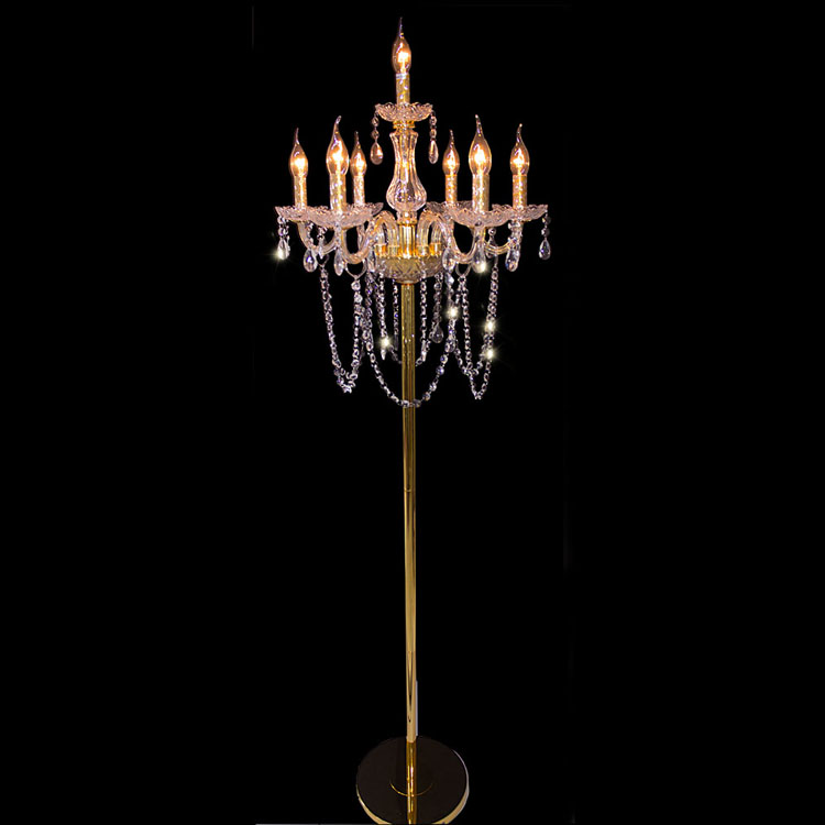 Французский E12 E14 светодиодные свечи пол свет для ресторана shopcase большой светодиодный лампады 7 Arm большой Стекло пол исследование лампы све