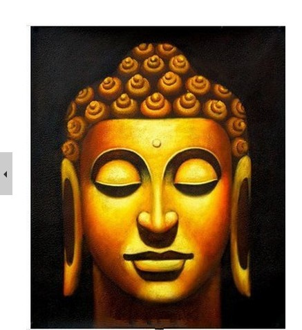 100% hand painted painting, Buddha head painting home decor wall art ...