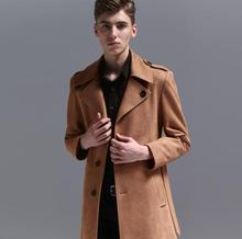 купить Mens leather trench coats man long coat men Single-breasted clothes slim fit overcoat long sleeve 2019 new designer brown 6XL по цене 7018.47 рублей