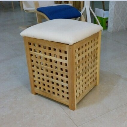 Catalpa Wood Storage Box Ikea Simple Stool Changing His Shoes