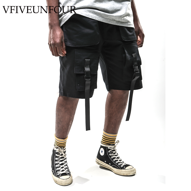 VFIVEUNFOUR 2019 Harajuku Vintage Cargo shorts men hip hop clothing Summer Pocket casual Loose shorts Casual Trousers in Casual Shorts from Men 39 s Clothing