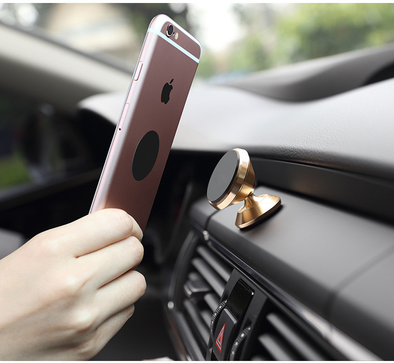 Universal Magnetic Car Phone Holder 360 Rotation Magnet Air Vent Mount Mobile Phone Holder For iPhone 6 6s 7 Plus Samsung GPS