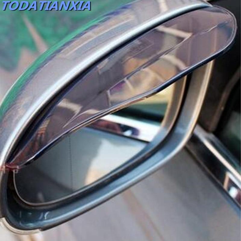 รถอุปกรณ์เสริมกระจกมองหลัง Rain Shade สำหรับ Kia Cerato H7 Skoda Citroen C4 Nissan Qashqai J10 Cruze Subaru Forester priora