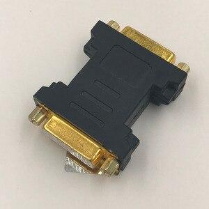Image 1 - DVI إلى DVI محول الإناث إلى الإناث محول الذهب مطلي DVI 24 + 5 F F موصل عالية الجودة DVI الإناث إلى الإناث النجار
