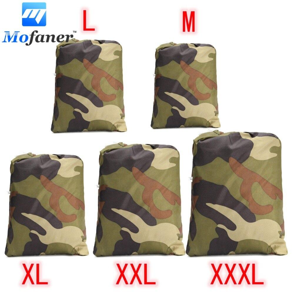 Universal 190 T Camouflage Wasserdichte Motorrad Abdeckung Quad Fahrzeug Scooter Motorrad ATV Abdeckung M L XL XXL XXXL