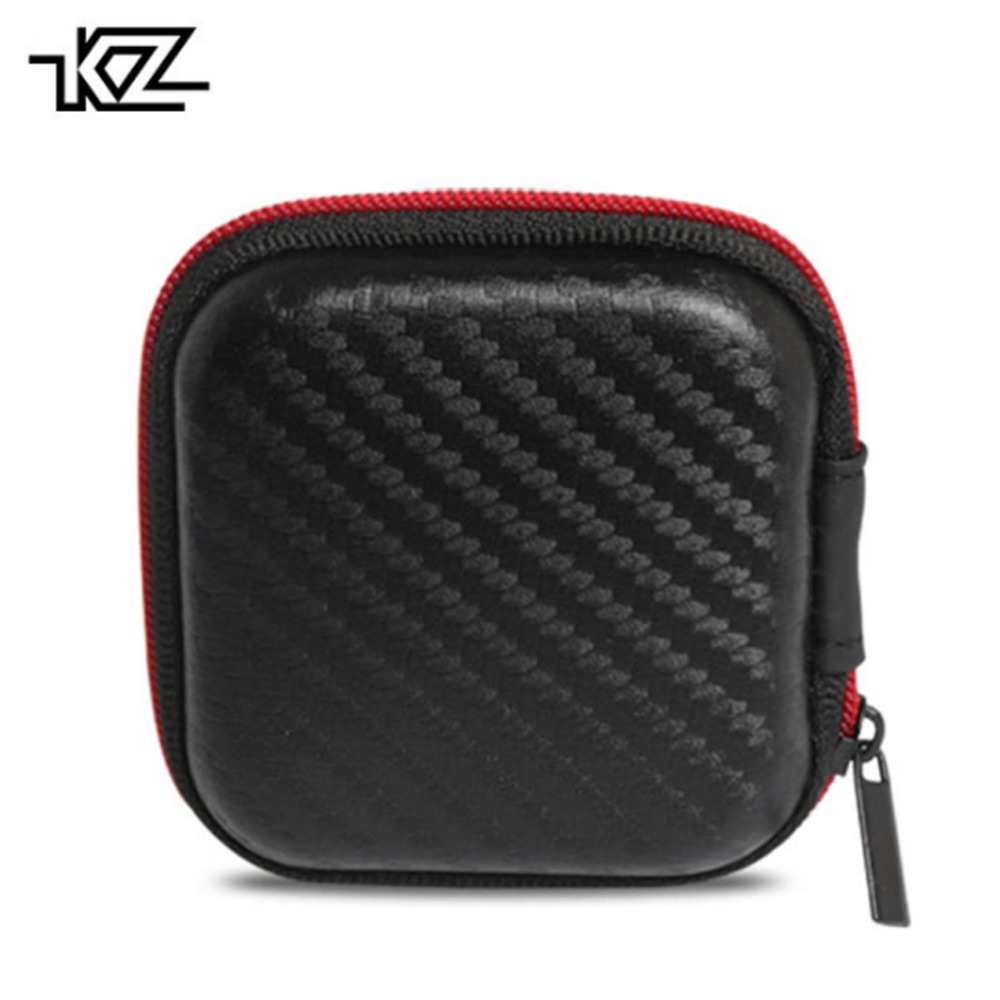KZ Earphone Case Fiber Zipper Headphone Earbuds Hard case Storage Carrying Pouch bag SD Card box portable Bag