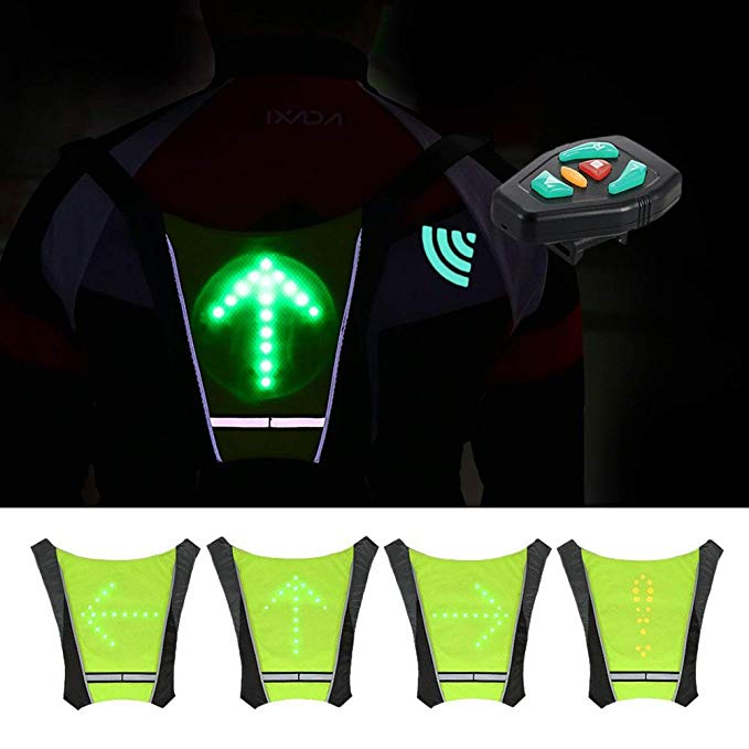 Bicycle Light Special Section Led Wireless Cycling Vest Safety Led Turn Signal Light Bike Bag Safety Turn Signal Light Vest Bicycle Reflective Warning Vests