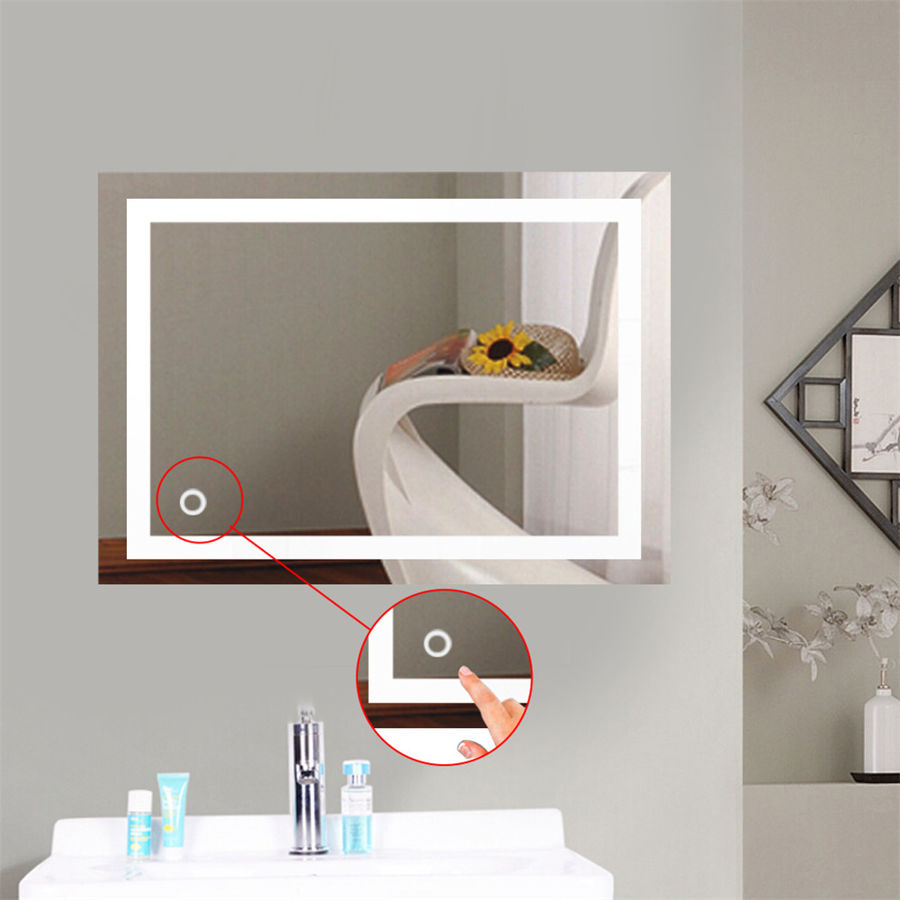 Bath LED Mirrors Light Makeup Mirror Lights Bathroom Mirrors 2 Sizes Rectangle Lighted Vanity Mirror Wall Mounted France HWCBath LED Mirrors Light Makeup Mirror Lights Bathroom Mirrors 2 Sizes Rectangle Lighted Vanity Mirror Wall Mounted France HWC