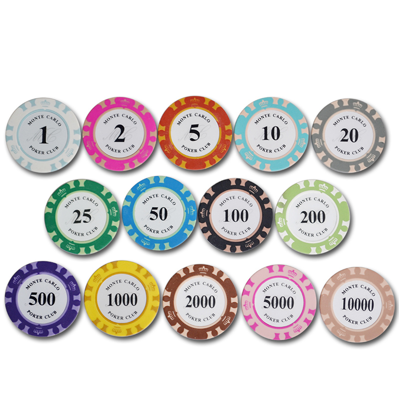 50pcslot high quality monte carlo design casino coins texas holdu0027em clay poker - Clay Poker Chips