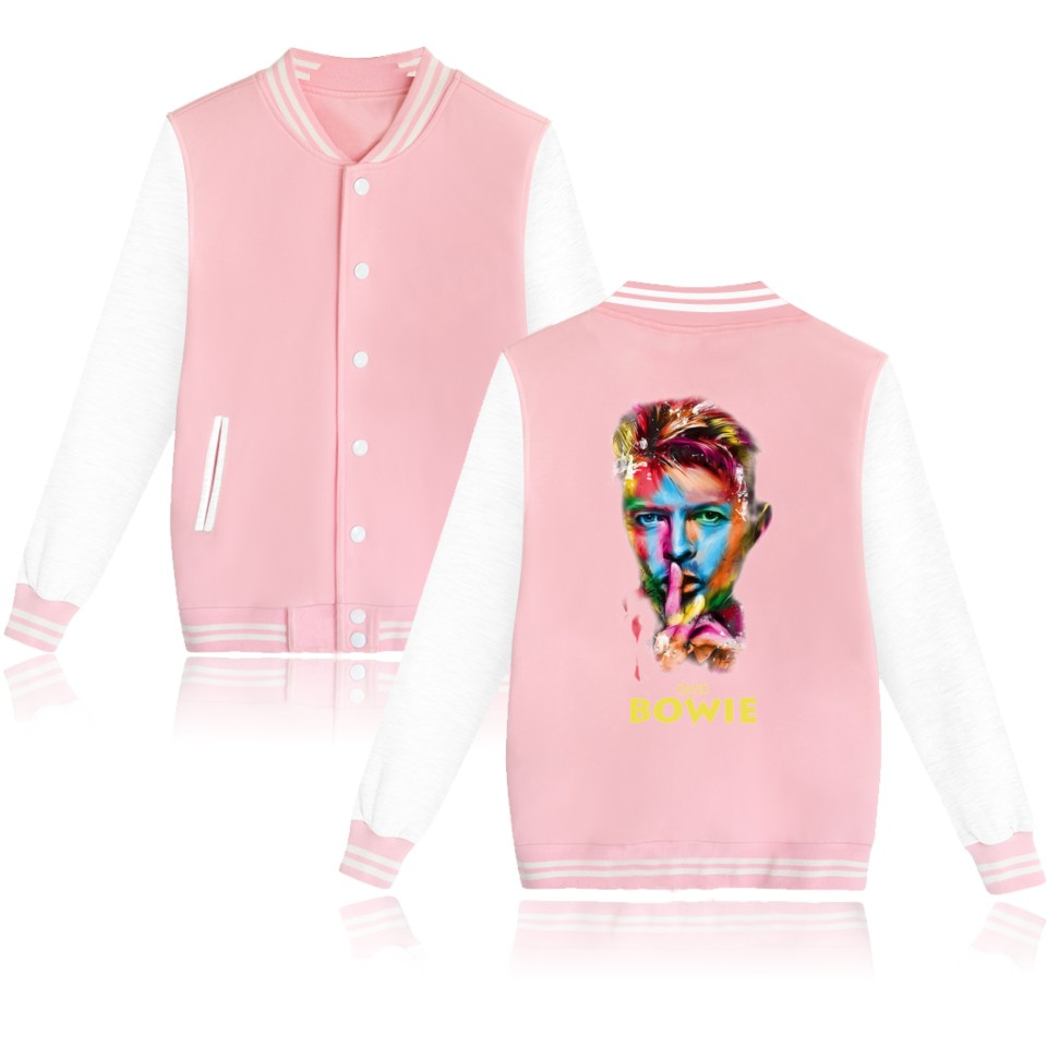 BTS David Bowie Baseball Jacket Pink College Baseball Jackets ...