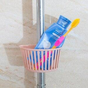 Image 3 - Portable Kitchen Sponge Holder Sink Dish Storage Rack Hanging Drain Basket Wall mounted Bathroom Organizer Sink Sponge Holder