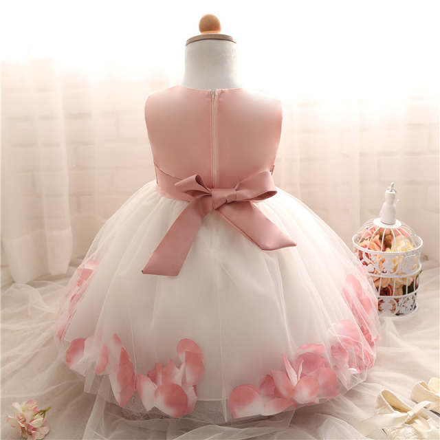 5fd374904 Online Shop Petal Hem Baptism Newborn Wedding Girls Formal wear ...