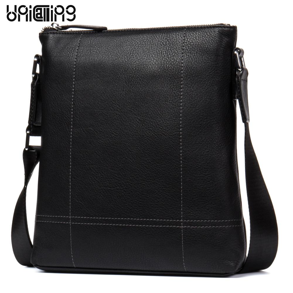 Кожаные сумки для мужчин Модная брендовая натуральная кожа Креста тела сумки мужская повседневная кожаная сумка для iPad/гаджеты