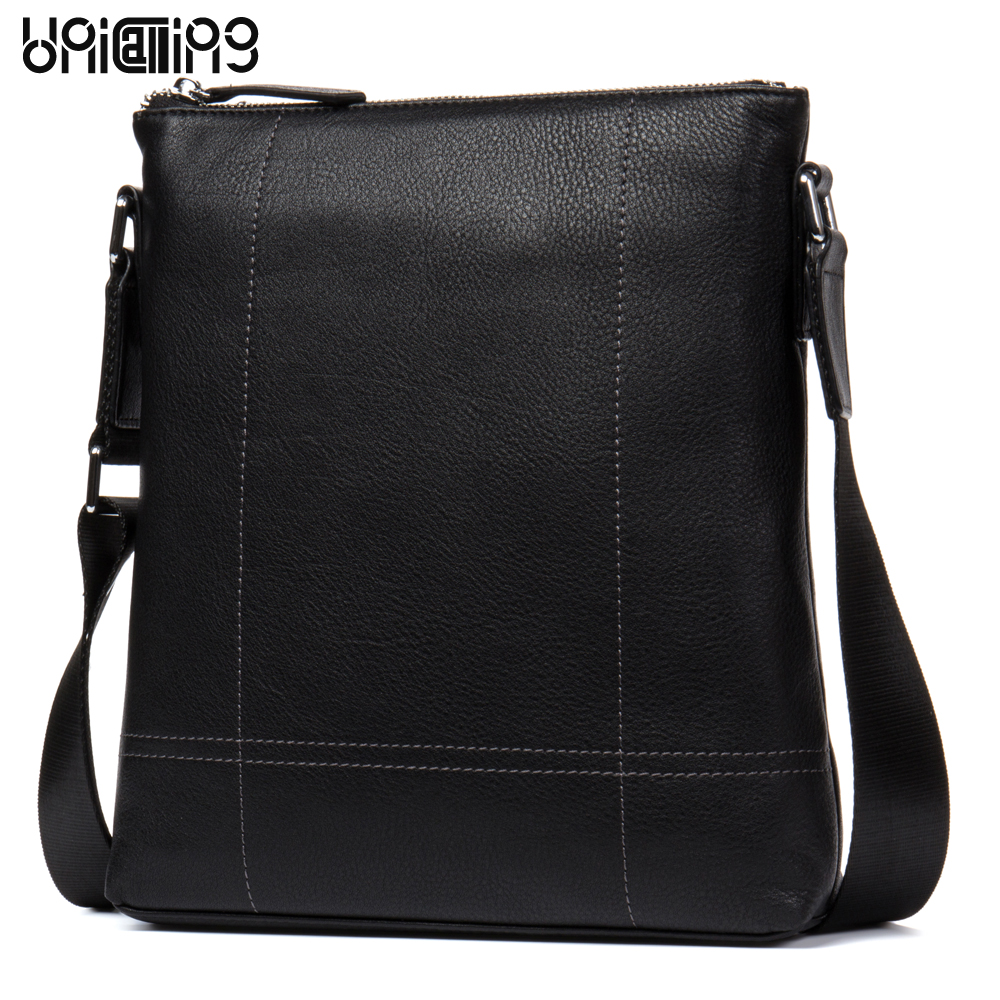 Leather shoulder bags for men fashion brand genuine leather cross body bags men casual leather messenger bag for iPad/gadgets