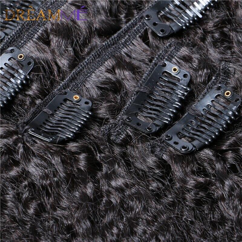 kinky straight hair clip in human hair extension (2)