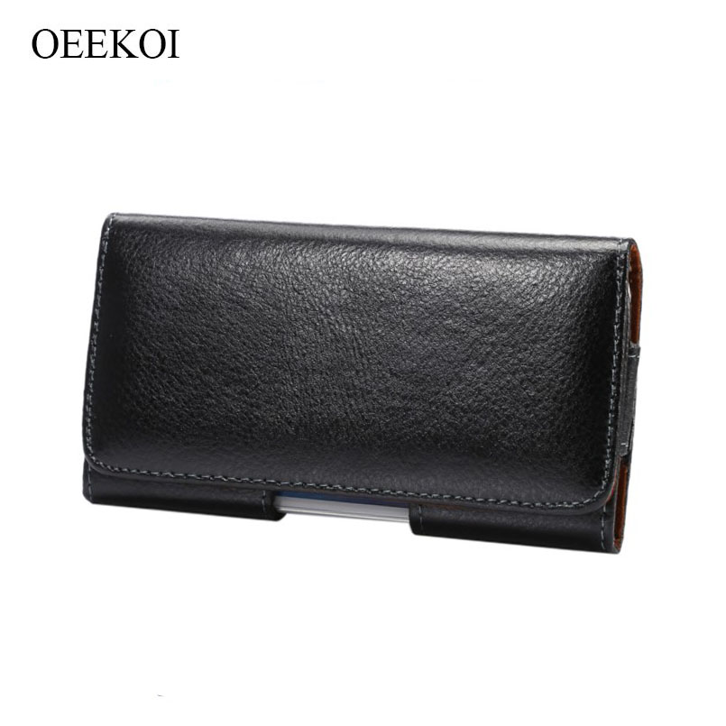 OEEKOI Genuine Leather Belt Clip Lichee Pattern Vertical Pouch Case for Yota YotaPhone 2/YotaPhone