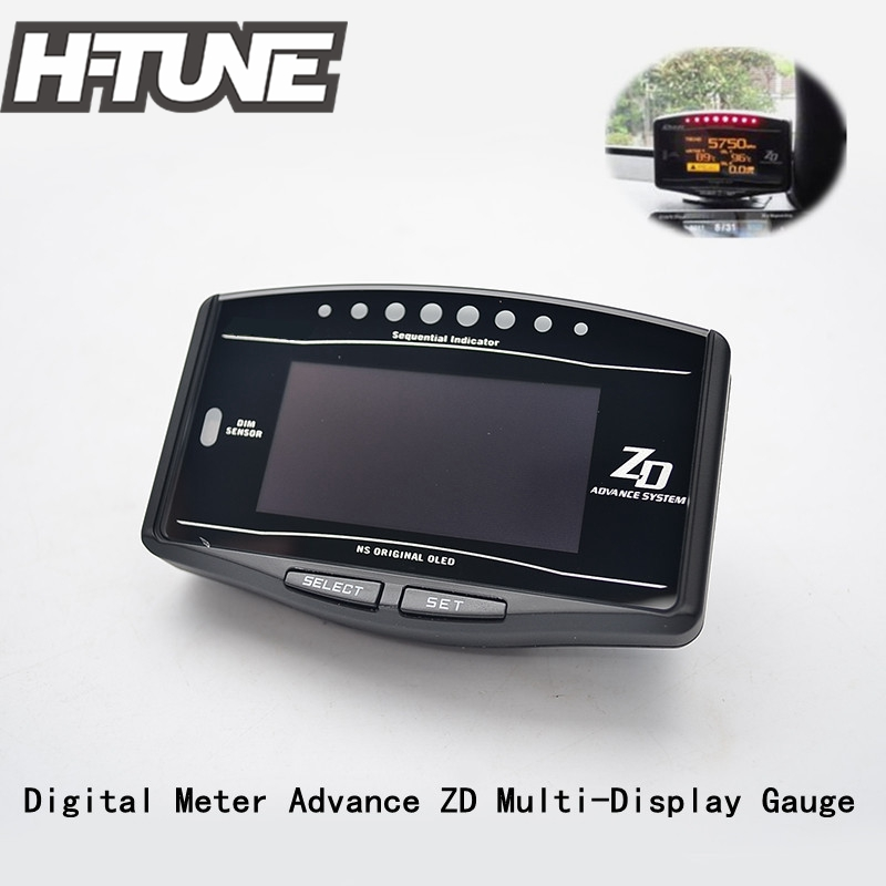 H-TUNE DF Style Advance ZD 10 in 1 link Auto Sports Digital Meter for all car цены онлайн