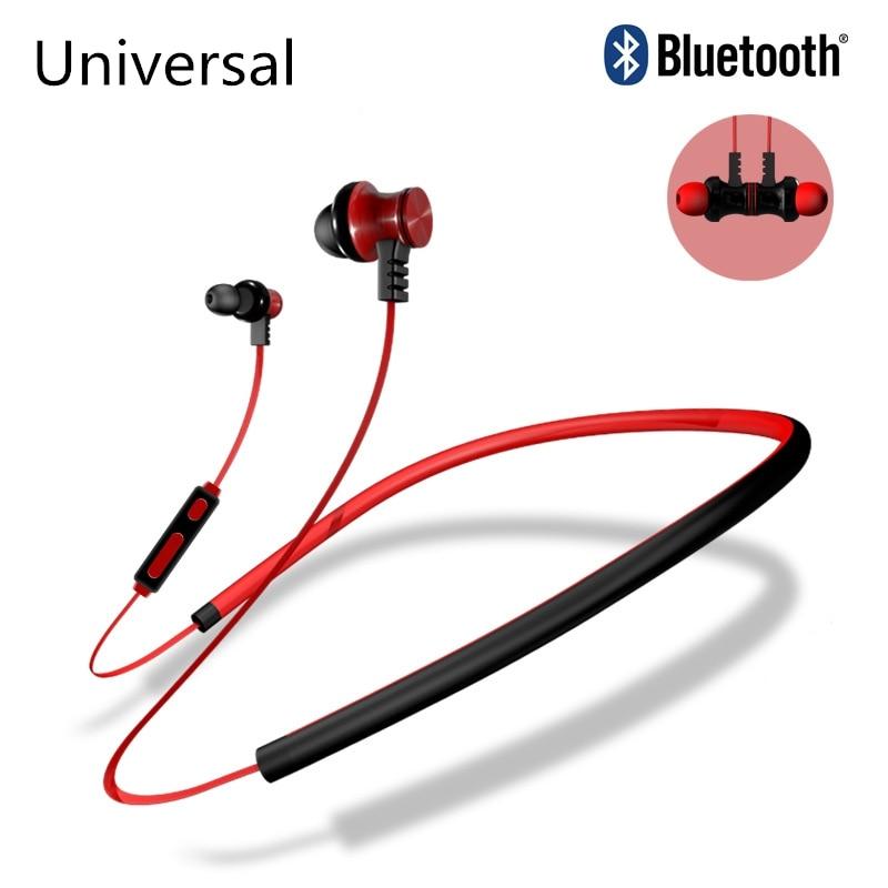 Neckband Bluetooth Headphone Universal Headset for Xiaomi earphone for Samsung Iphone Huawei Meizu Sony sport wireless headphone