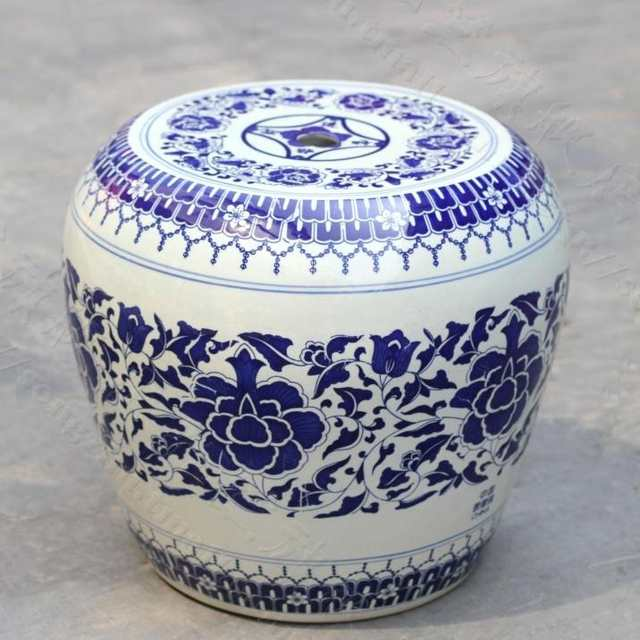 Online Shop China Painting Blue And White Ceramic Drum Porcelain