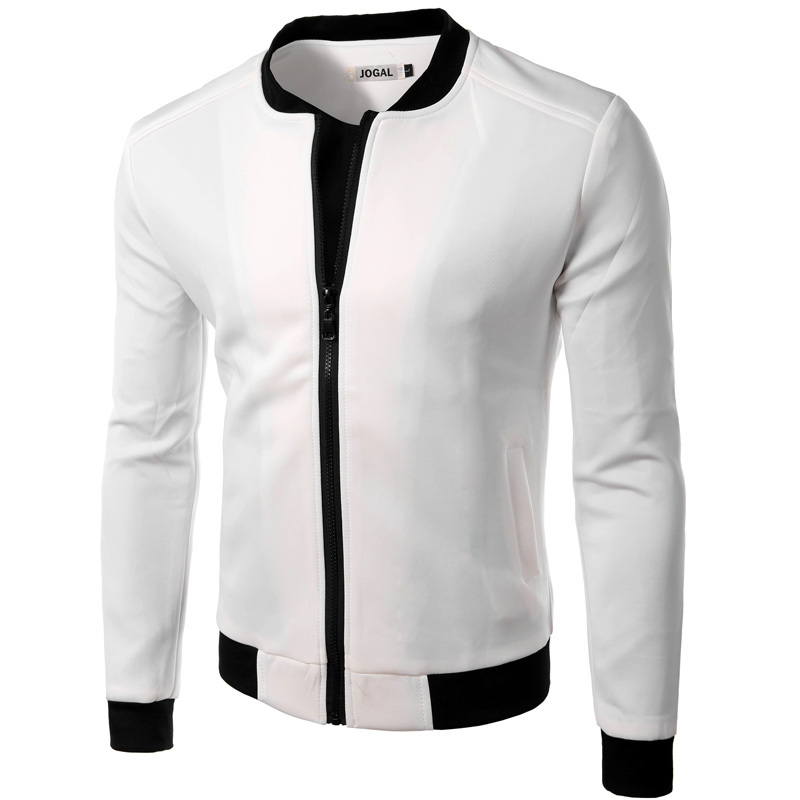 New White Jacket Men 2016 Fashion Design Mens Slim Fit Zipper ...