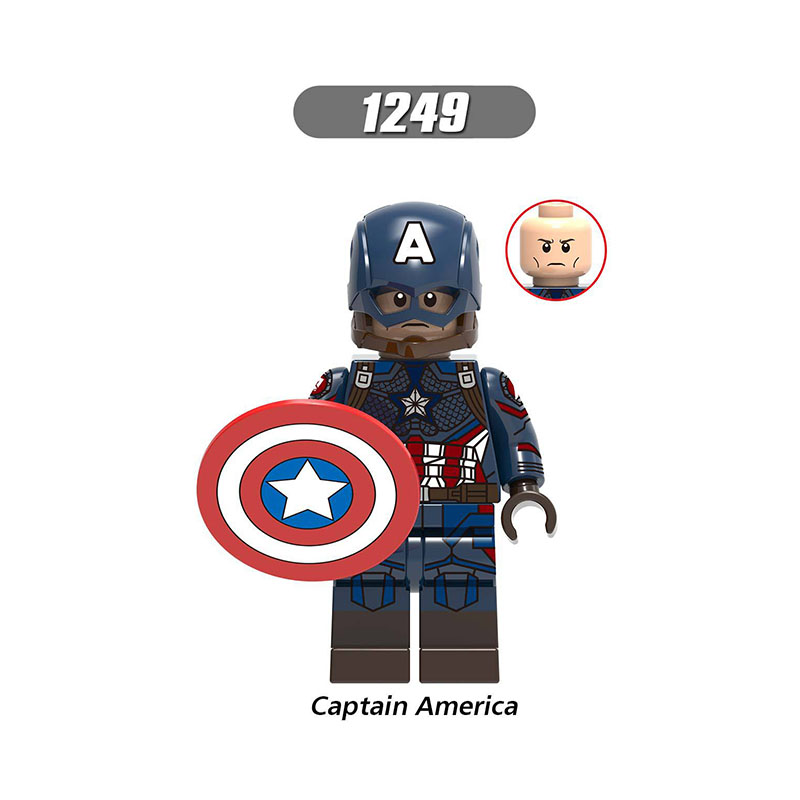 Single Sale Legoinglys Super Heroes Avengers 4 Endgame Figures Captain America Thor Captain Marvel Figures Dolls Toys Boy Gifts