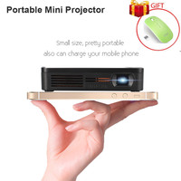 Portable Mini Pocket Projector Miracast Airplay Wireless Display HDMI USB Hand Sized Remote Control Operation Family
