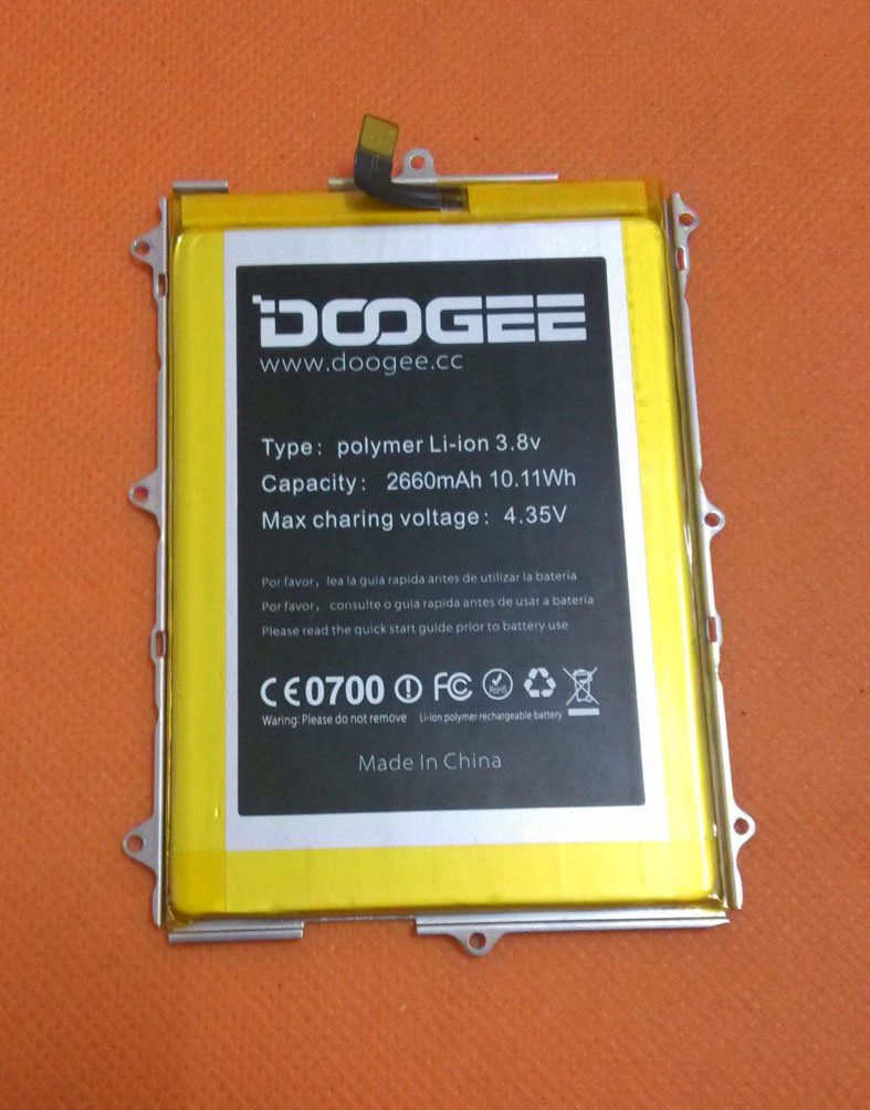 Original 2660mAh Battery Batterie Batterij Bateria For Doogee F5 4G LTE 5.5inch MTK6753 Octa Core FHD 1920x1080