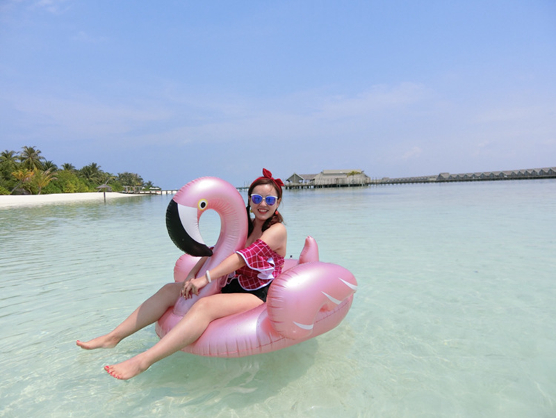 Giant Inflatable Flamingo 60 Inches Unicorn Pool Floats Tube Raft Swimming Ring Circle Water Bed Boia Piscina Adults Party Toys (11)