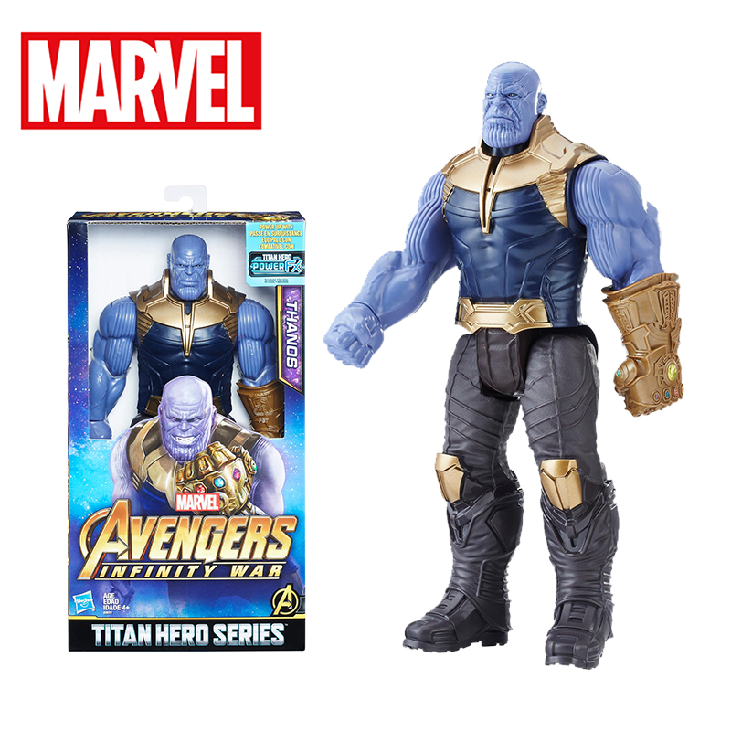 Original 29cm Marvel Toys the Avengers 3 INFINITY WAR Thanos PVC Action Figures TITAN HERO SERIES Figure Collectible Model Toy action figure marvel avengers 3 infinity war figure thanos pvc avengers infinity war thanos figure collectible model toys light
